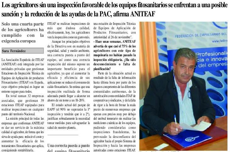 Aniteaf habla en EXPO el periodico agrario de Extremadura